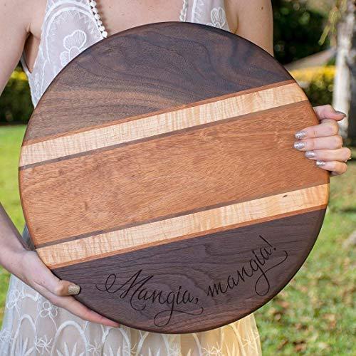 Personalized Hardwood Cutting Board Custom Chopping Block - Walnut Mahogany Maple Hardwoods