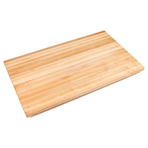John Boos Edge-Grain Maple Butcher Block Countertop - 1-12 Thick 48 L x 30 W Varnique Finish