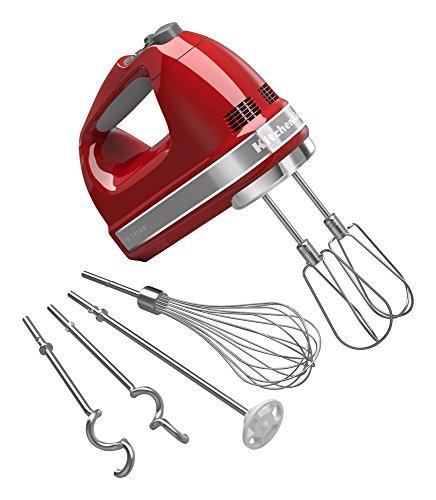 KitchenAid KHM926ER Empire Red 9-Speed Hand Mixer Renewed