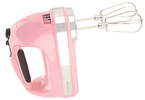 KitchenAid Renewed RKHM9GU 9-Speed Most Powerful Digital Display Power Hand Mixer Guava Glaze Pink Color
