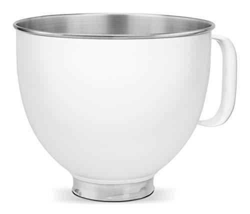 KitchenAid KSM5SSBWH Custom Stainless Steel Stand Mixer Bowl 5 Qt White