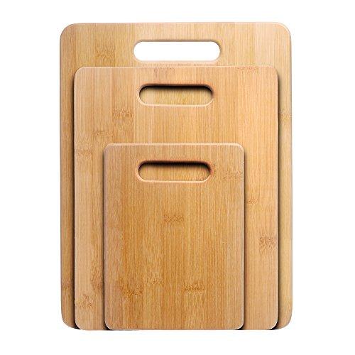 Cutting Board Nuvita 3-Piece Bamboo Cutting Board Set -Premium Chopping Board Block -Large Medium Small Size Set - Anti-microbial and made of eco-friendly bamboo