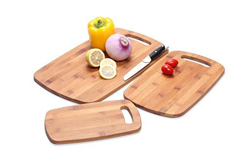 Homemaker Eco Friendly Lightweight 3-Piece Bamboo Cutting Board Set