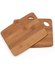 Lipper International Thin Bamboo Cutting Board Set of 2 2 6-in x 8-in