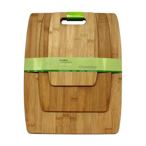 Oceanstar CB1156 3-Piece Set Bamboo Cutting Board Set by Oceanstar