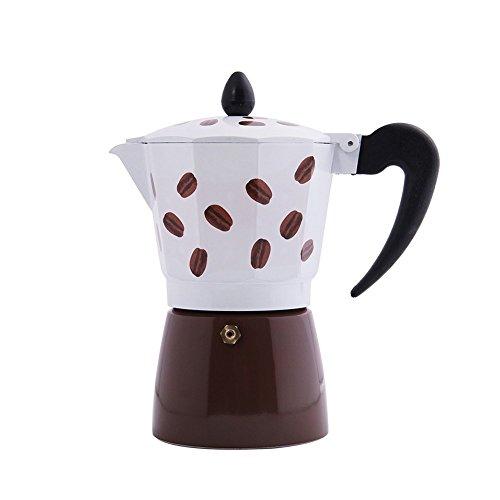 Jimei Italian Moka Express Stovetop Espresso Maker Pot Coffee Latte 3 cups