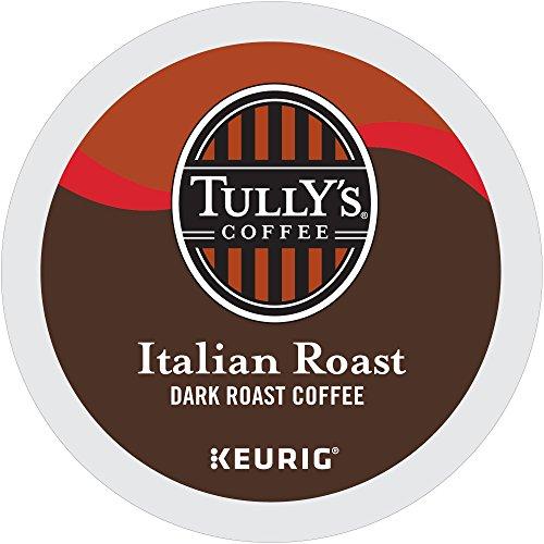 Tullys Coffee Italian Dark Roast Keurig Single-Serve K-Cup Pods Dark Roast Coffee 72 Count 6 Boxes of 12 Pods  Pack May Vary