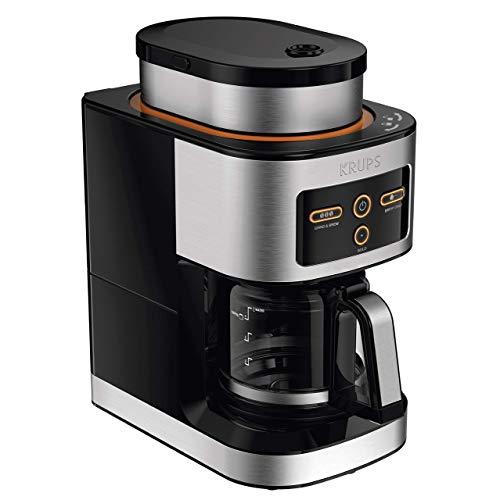 KRUPS KM550D50 Personal Café Grind Drip Coffee Maker 4 cups20 ounces brew Silver Renewed