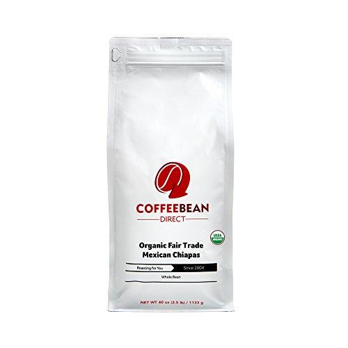 Coffee Bean Direct Organic Fair Trade Mexican Chiapas 25 Pound