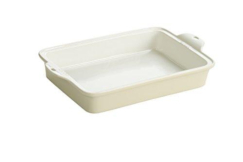 Lodge STW13RCT13 Stoneware Baking Dish 9 x 13 Oyster White