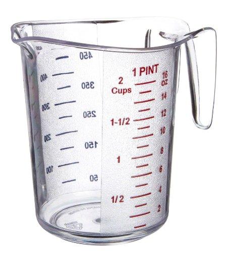 Update International (mea-50pc) 2 Cup Plastic Measuring Cup