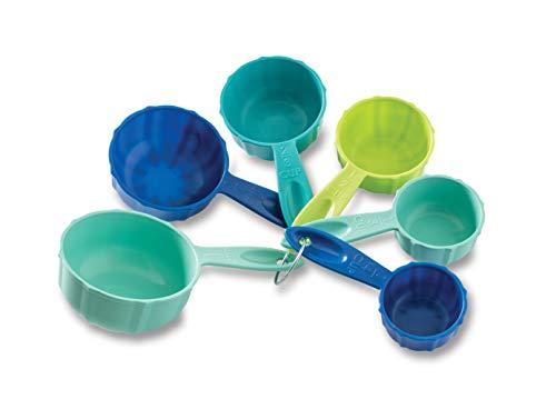 Nordic Ware 1157 Bundt Measuring Cups Set of 6 Coastal Colors