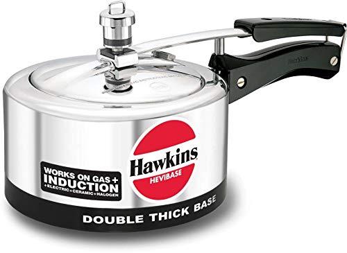 Hawkins Aluminium Pressure Cooker Hevibase 2 Liter Induction Bottom 20-24 qt