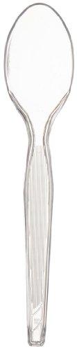 "Dixie Th017 Heavy Weight Polystyrene Teaspoon, 6"" Length, Crystal Clear (case Of 1,000)"