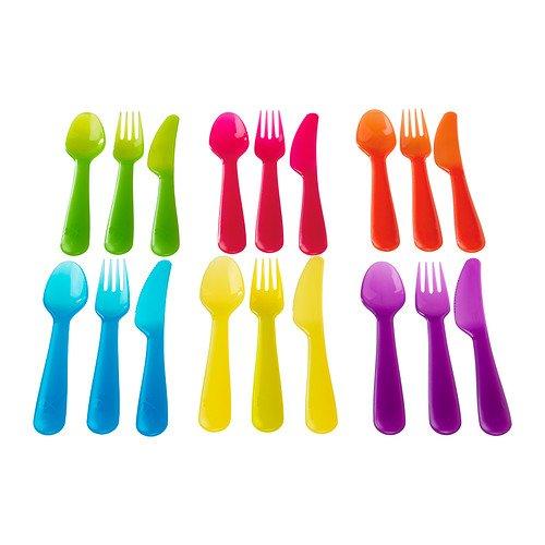 Ikea Kalas 901.929.62 18-piece Bpa-free Flatware Set, Multicolored