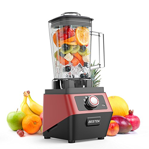 BESTEK High Speed Commercial Blender Crusher-UL CertifiedBPA Free1400 Watts 30000RPM Countertop Blender with 2L Pitcher 3-Speed Control Programmed Settings Food Processor Smoothie Maker Juicer