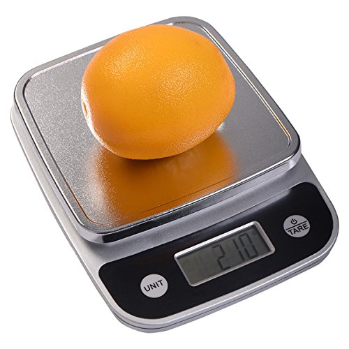 TAVLAR 11lb x 004oz LCD Digital Kitchen Weight Scale 5Kg x 1g Food Diet Postal Slim