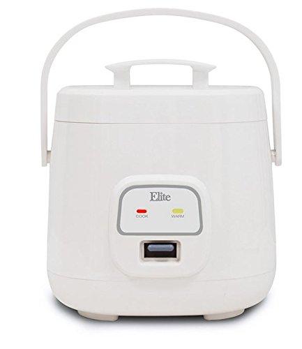 Elite Cuisine ERC-135 Maxi-Matic 4 Cup Mini Rice Cooker White