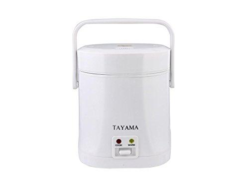 Tayama TMRC-03 15 Cup Portable Mini Rice Cooker White