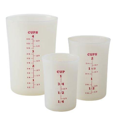 Cake Boss Countertop Accessories Silicone Liquid Measuring Cups, White