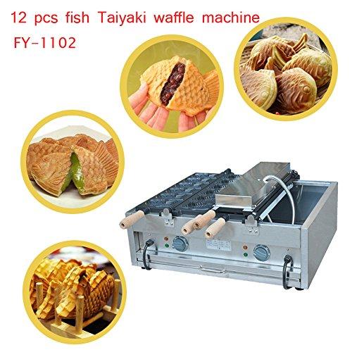 Commercial Japanese Fish Shape Waffle Making Machine Taiyaki Baker Mini Household Donut Maker Iron 220V