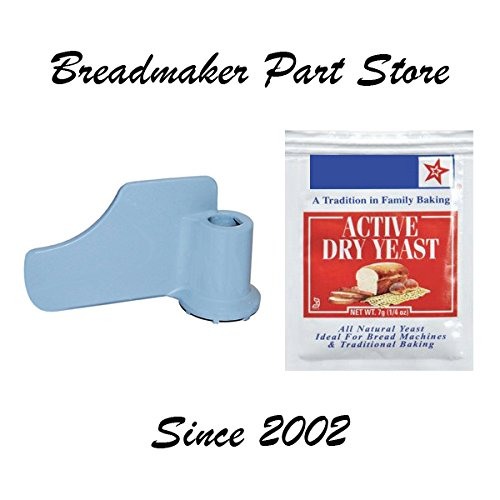 New Mixing Paddle for Black Decker MODEL  B2005F Plus Deluxe Horizontal 2-Lb Loaf Capacity All-In-One Automatic Bread Maker Machine Breadmaker Kneading Blade PART  429592-00 KneaderYeast Bundle
