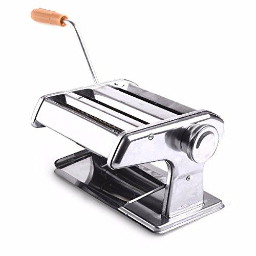 6 150mm Pasta Noodle Spaghetti Fettuccine Fresh Maker Roller Machine Hand Crank