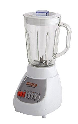 IMUSA USA GAU-80313W 10-Speed Blender with Glass Jar 4 42 oz White