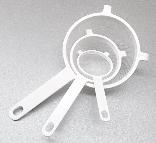 Plastic Strainer Kitchen Cooking Sieve 3 Nylon 100% Bpafree Polyester Mesh Swiss (e 3)