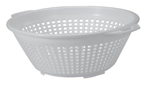 United Solutions Kw0007 Seven Quart White Plastic Colander -7qt Plastic Pasta Strainer In White