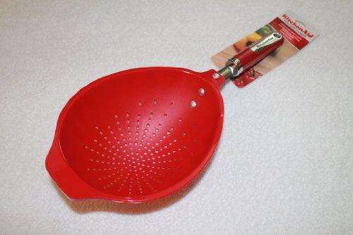 Kitchenaid Pasta Plastic Scoop Colander, Red