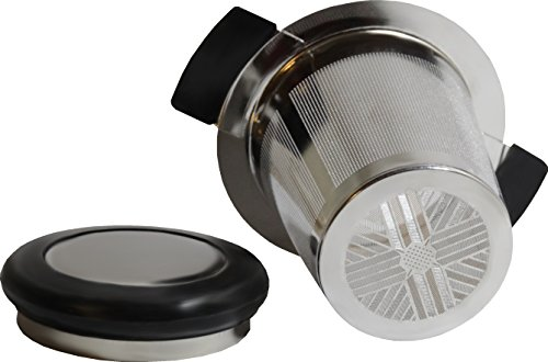 Extra Fine Mesh Tea Strainer, Loose Leaf Infuser Large Infuser Basket, Stainless Steel Filter