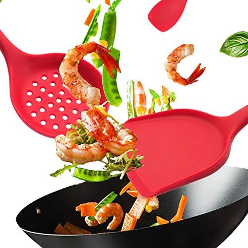 Nylon Kitchen Cooking Utensil Set- Silicone Utensil Set - Cooking Utensils - Kitchen Silicone Utensil Set - Cook Utensil Set - Heat-Non Toxic Silicone Spatula Spoon- Dishwasher Safe A