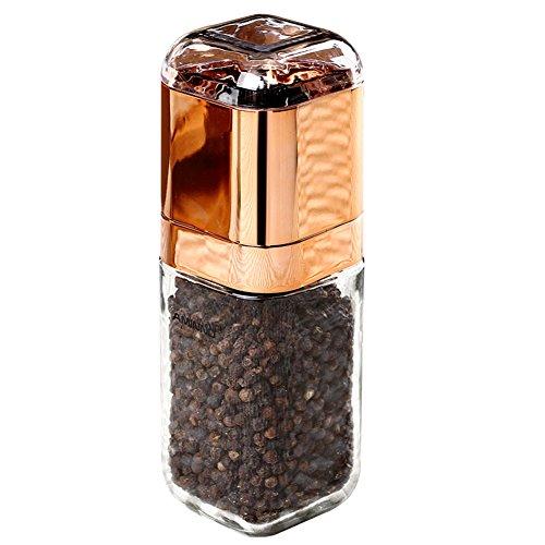 Glass pepper grinderPepper grinder pepper mill manual grinding bottles-A