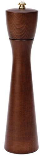 Fletchers Mill Tronco Pepper Mill Walnut Stain - 10 Inch Adjustable Coarseness Fine to Coarse MADE IN USA