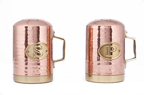 Old Dutch International 833 Salt and Pepper Shaker Set 4¼ H Copper
