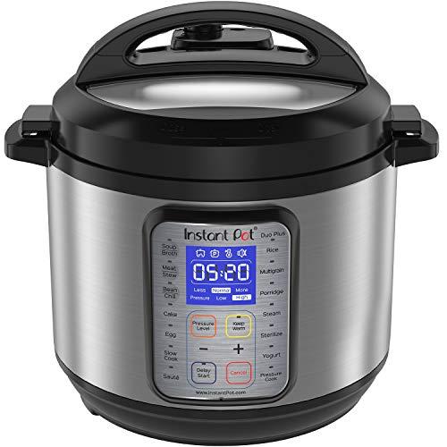 Instant Pot DUO Plus 60 6 Qt 9-in-1 Multi- Use Programmable Pressure Cooker Slow Cooker Rice Cooker Yogurt Maker Egg Cooker Saut Steamer Warmer and Sterilizer Renewed