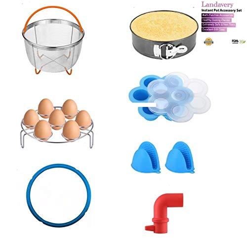 Landavery Instant Pot Pressure Cooker Accessories Set Compatible with All Pressure Cooker Brands Fits 6QT 8QT Superior Bundle-No Filler Items