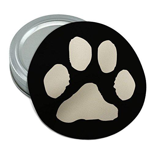 Paw Print Pet Dog Cat B&W Round Rubber Non-Slip Jar Gripper Lid Opener