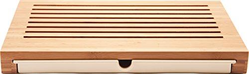 Alessi Sbriciola Bread Board in Bamboo Wood With Crumb Catcher in Thermoplastic Resin Wood