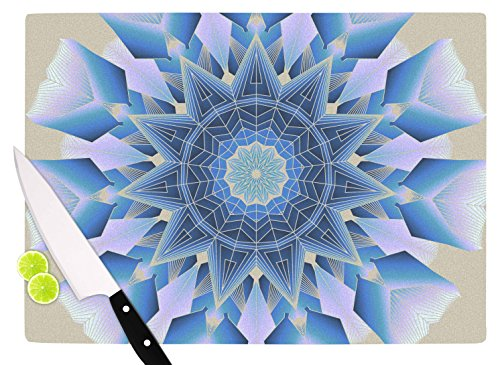 KESS InHouse AC3014ACB01 Angelo Cerantola Desire Blue Modern Cutting Board 115 x 825 Multicolor