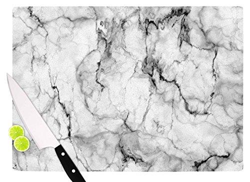 KESS InHouse CV1040ACB01 Chelsea Victoria Marble No 2  Black Modern Cutting Board 115 x 825 Multicolor