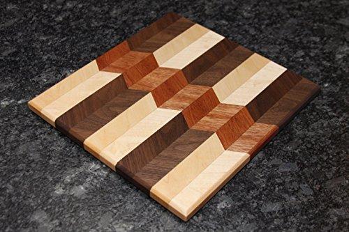 Arrow Pattern Square Cutting Board
