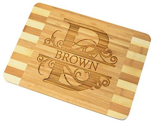 Personalized  Custom Engraved Bamboo Wood Cutting Board - 136x96x07