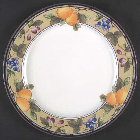 Mikasa Intaglio Garden harvest 12 round platter - chop plate -