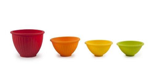 Core Kitchen Essential Silicone 4 Piece Round Ottawa Measuring Pinch Bowl Set