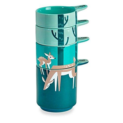 Fawn Deer Set of 4 Ceramic Stackable Measuring Cups