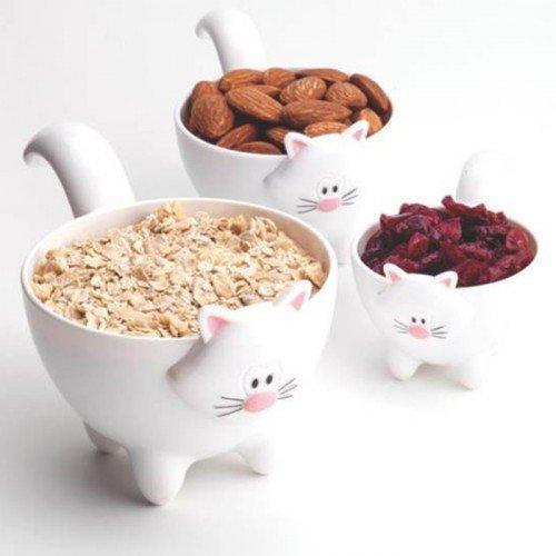 Joie Meow Cat Themed Stackable Kitchen Measuring Cups Set - Random Color