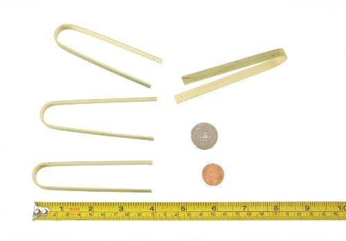 BambooMN Brand - 39 Mini Bamboo Disposable Tongs - Toast Tongs - 20pcs