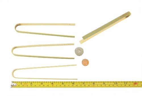 BambooMN Brand - 63 Mini Bamboo Disposable Tongs - Toast Tongs - 100pcs